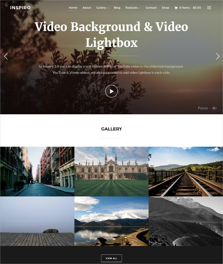 professional photography fullscreen wp theme