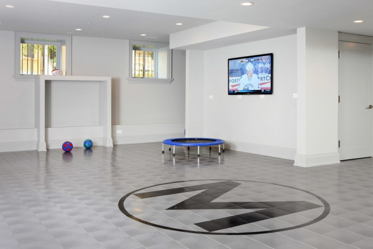 amazing basement floor idea
