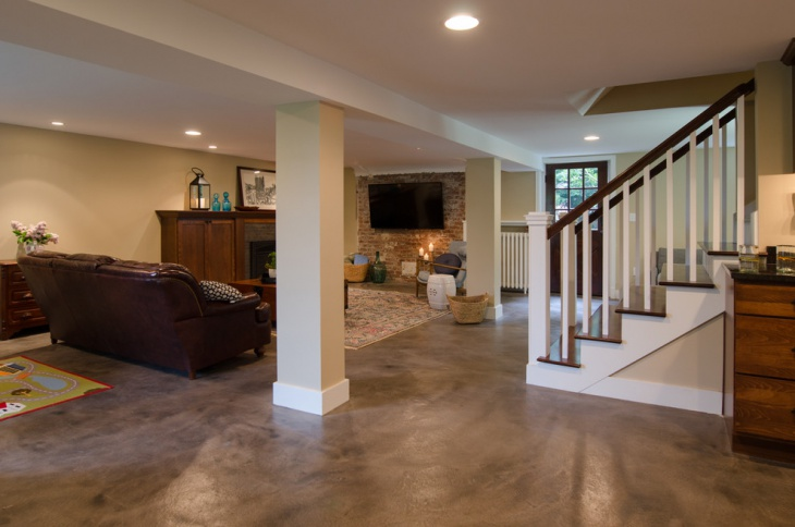 17+ Basement Flooring Designs, Ideas