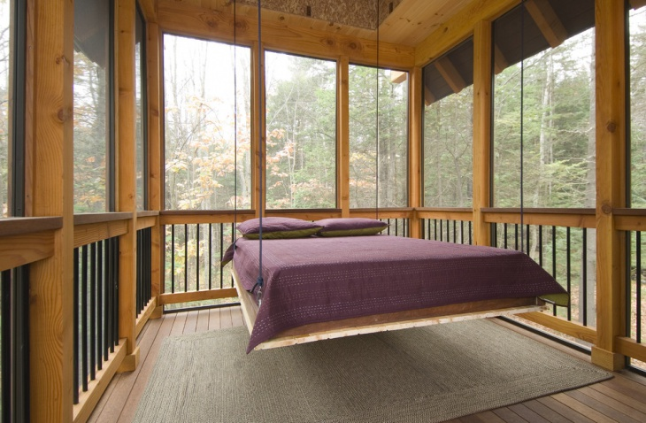 outdoor hanging bed design