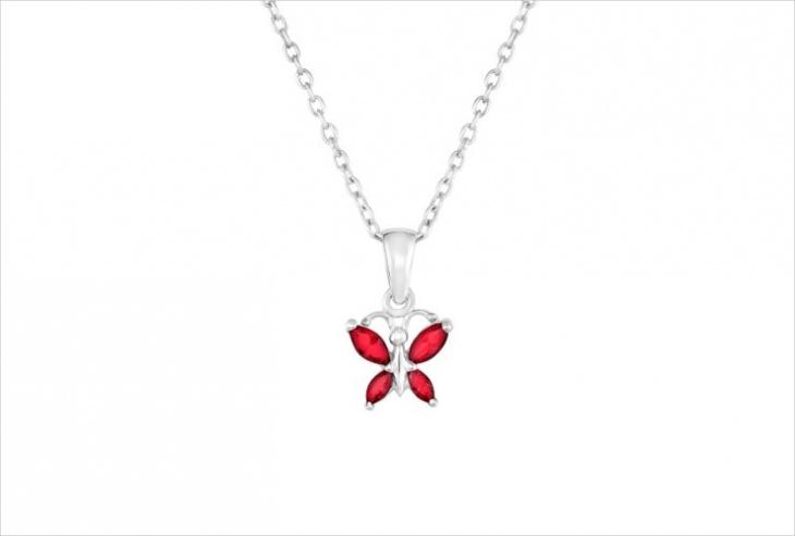 Ruby Butterfly Pendant