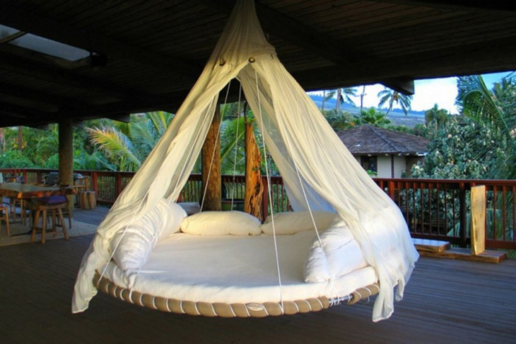 Round Hanging Bed