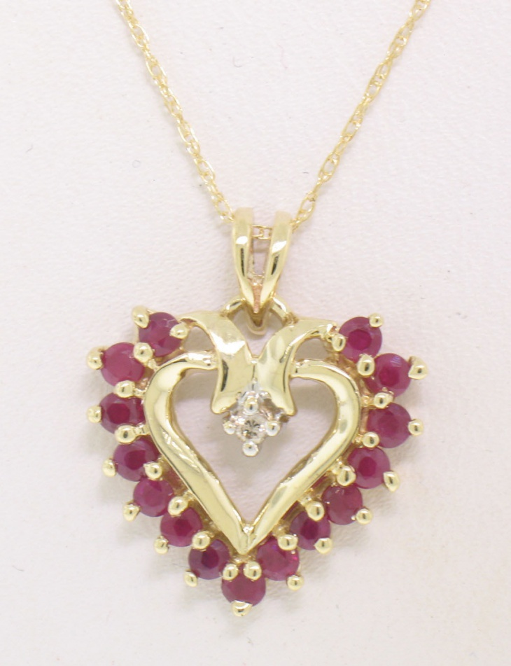 beautiful ruby pendant necklace
