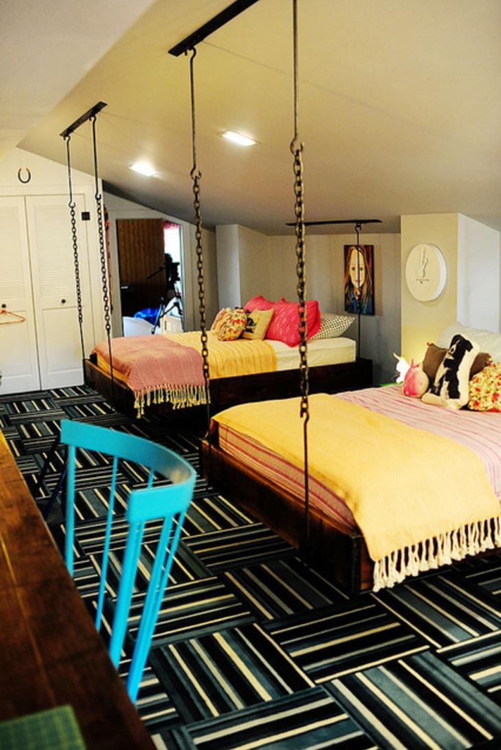 Interior Hanging Bed Design