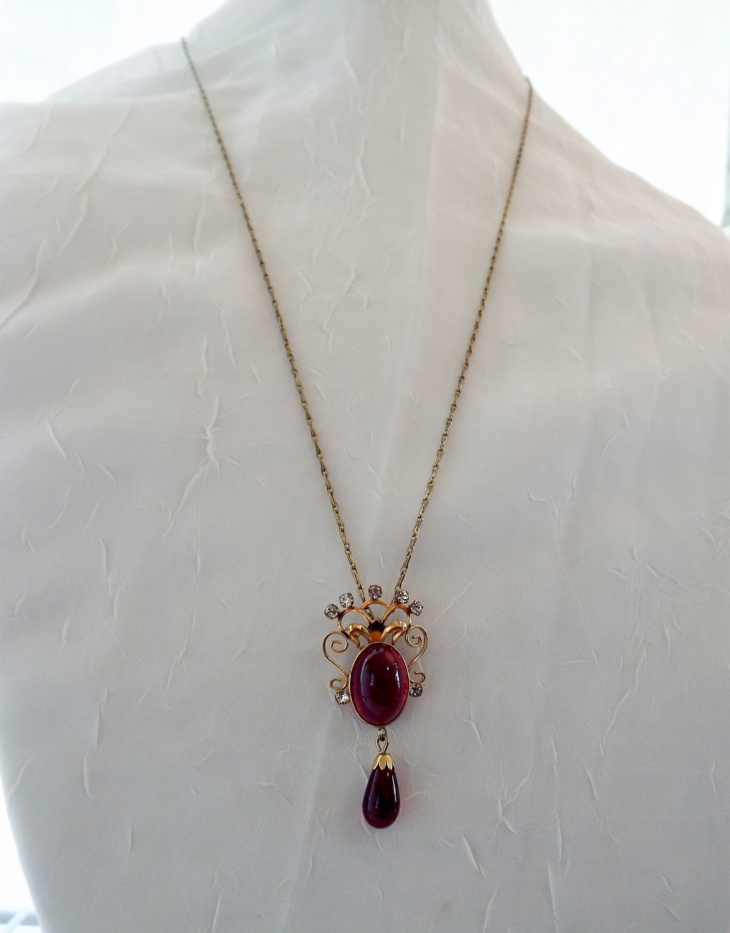 gorgeous ruby pendant necklace