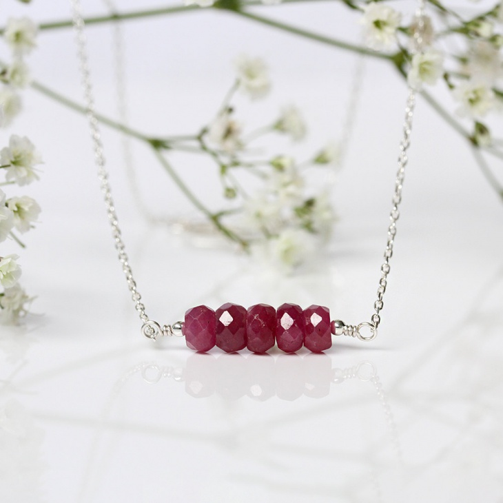 natural red ruby pendant