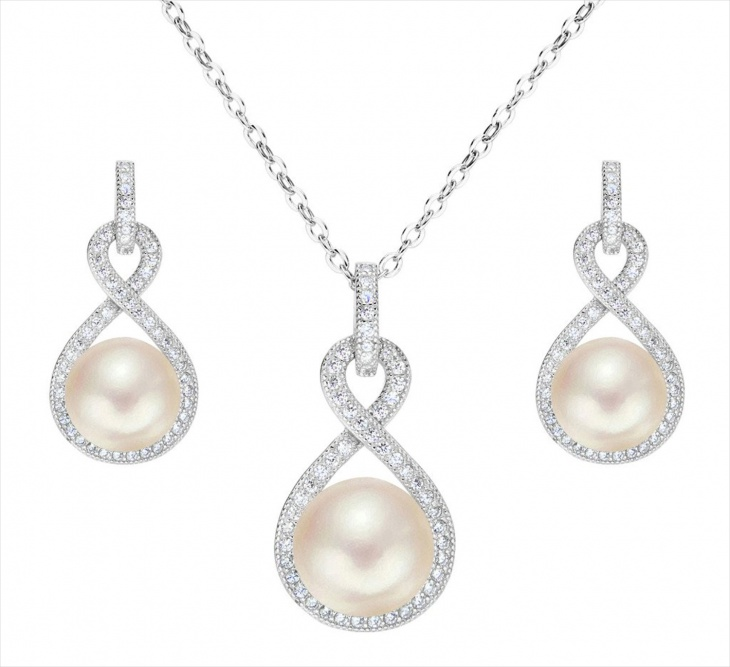 cultured pearl stone necklace