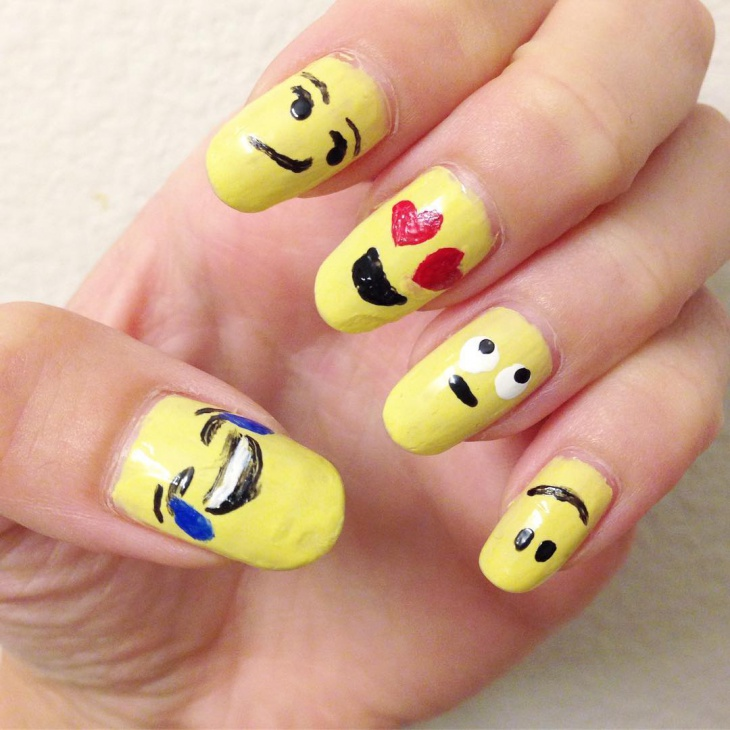 Emoji For Nail Art: Nail emojis files hair styles tips art forward ...