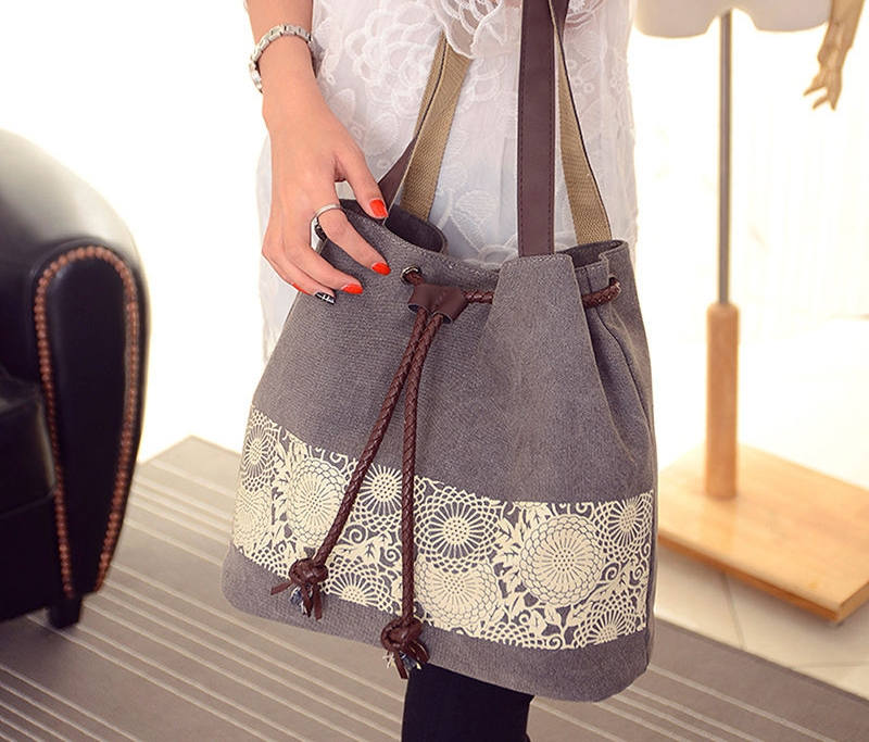 canvas satchel handbag