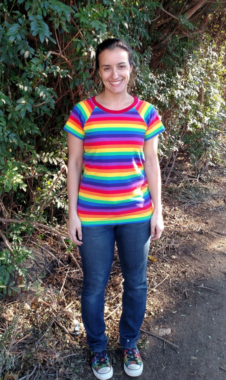 rainbow striped t shirt