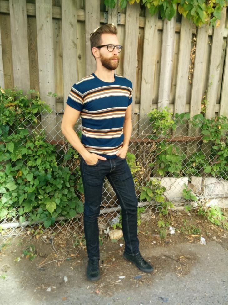 mens striped t shirt design