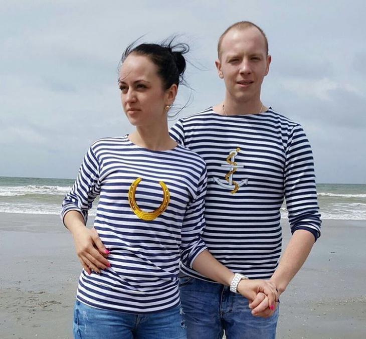 anchor striped t shirt