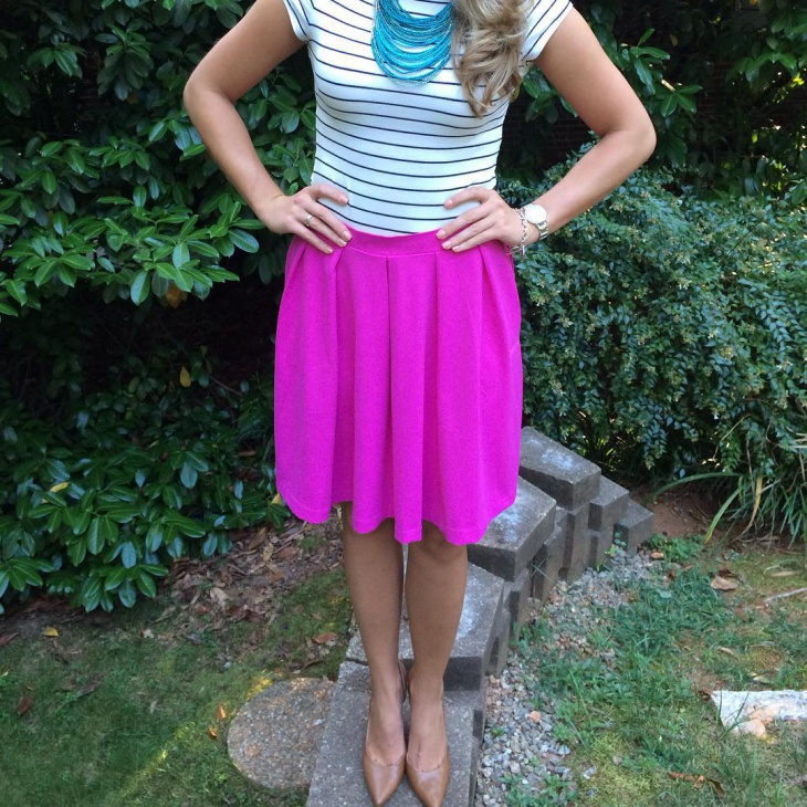striped t shirt outfit