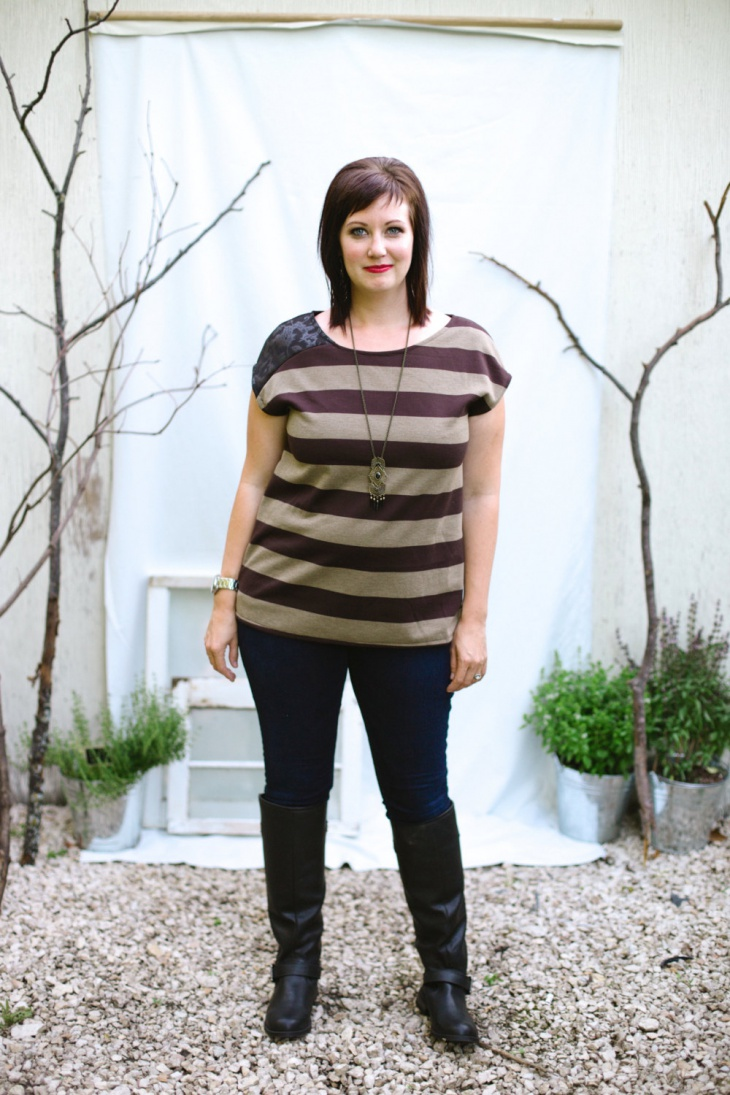 unique striped t shirt