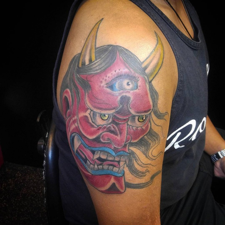 evil mask tattoo idea