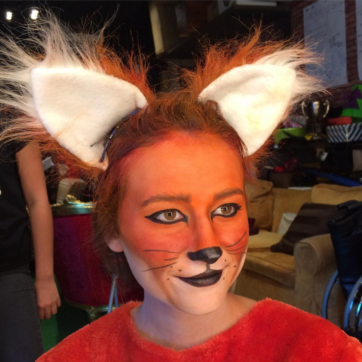 halloween fox makeup design
