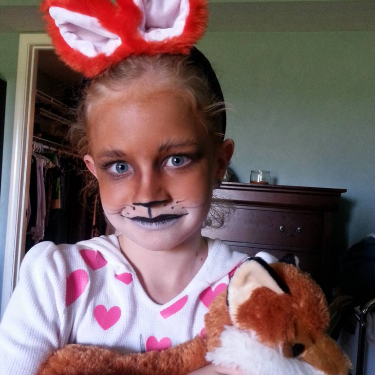 kids fox makeup