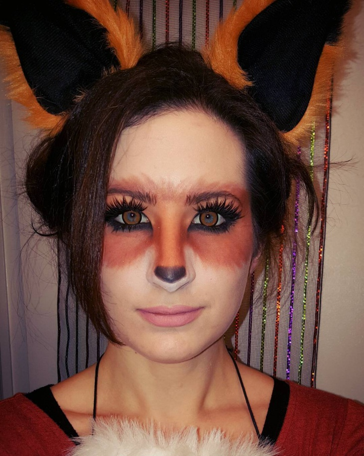 cute red fox makeup