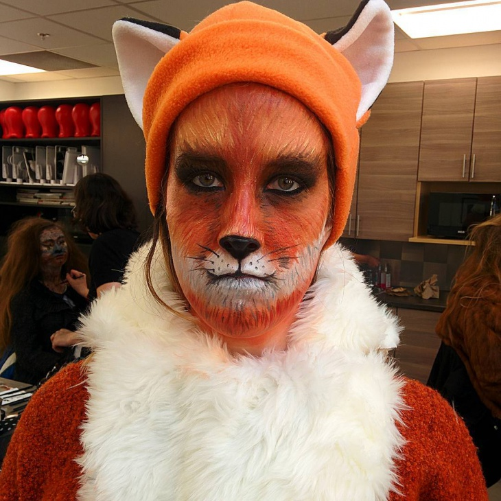 fox costume makeup design