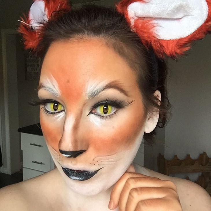 fox animal makeup