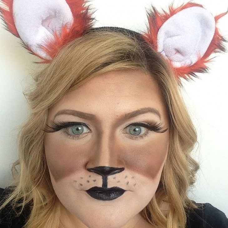 cool fox makeup idea