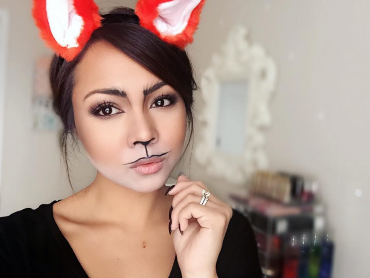 beautiful fox makeup design