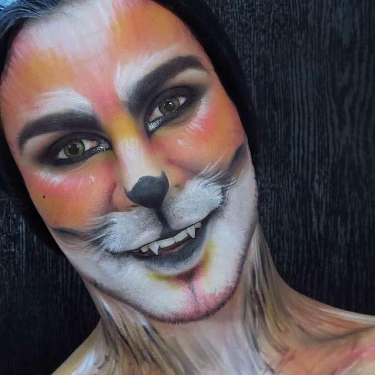 unique fox makeup idea