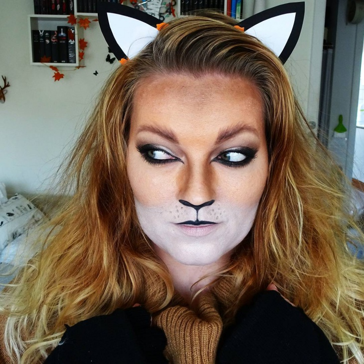 creepy fox makeup design
