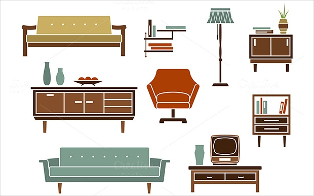 furniture icons for living room