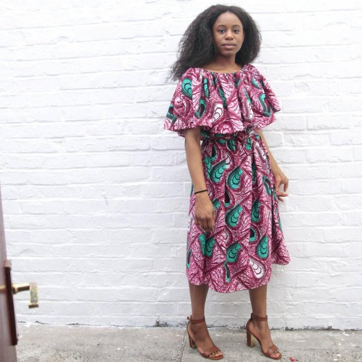 trendy flounce dress idea