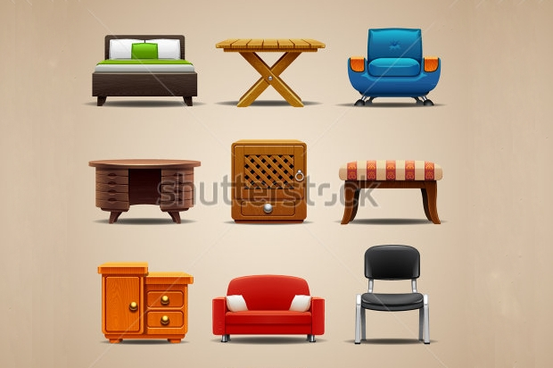 elegant furniture icons