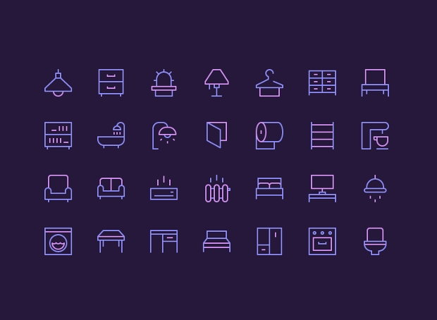 nucleo furniture icons