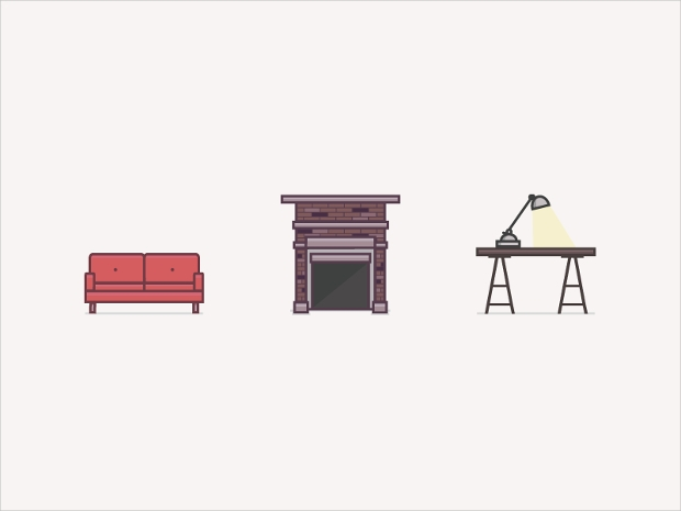 industrial furniture icons