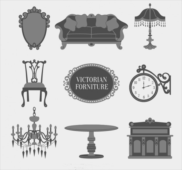 victorian furniture icons