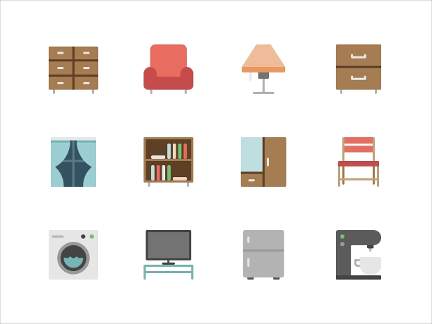 simple furniture icons