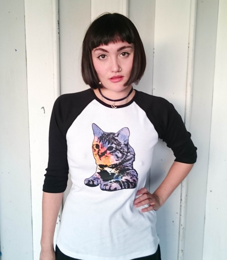 galaxy cat t shirt
