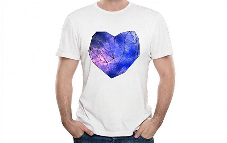 galaxy heart t shirt