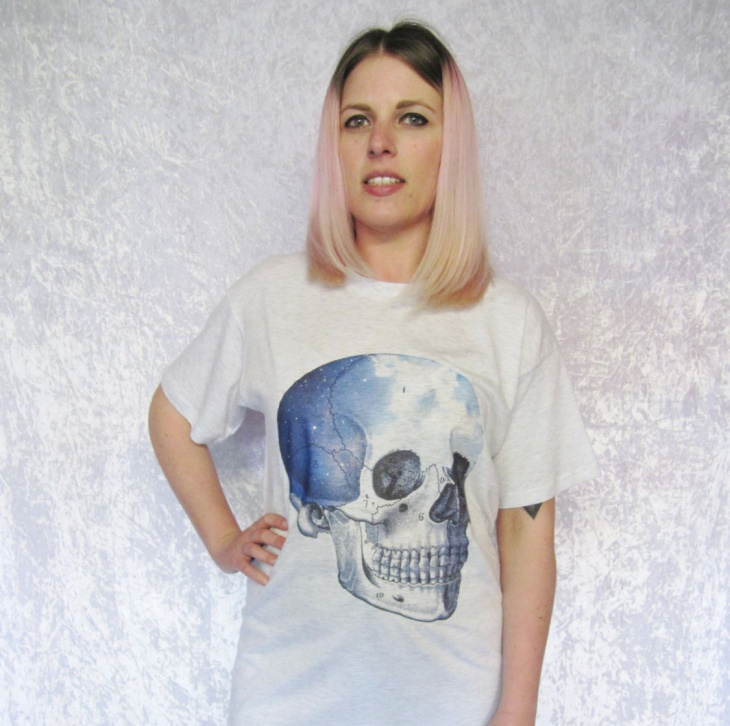 skull galaxy t shirt design