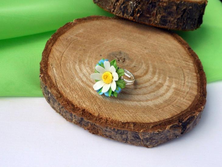 handmade daisy ring1