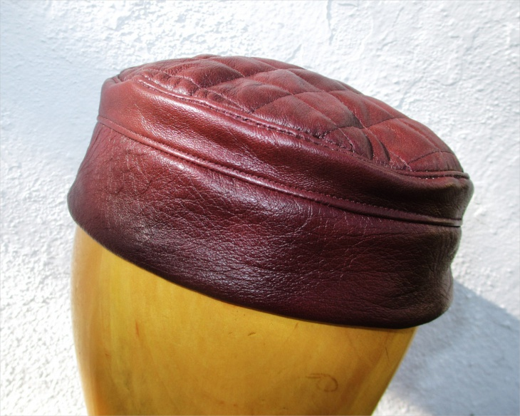 quilted leather hat