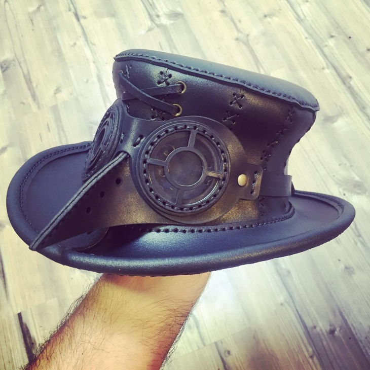 Vintage Leather Hat Model