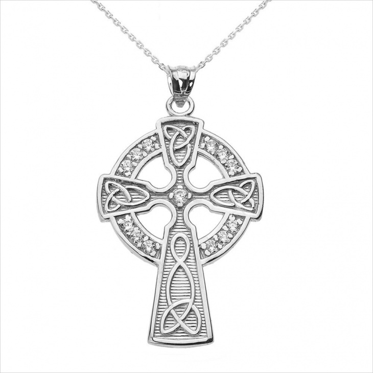 celtic cross necklace design