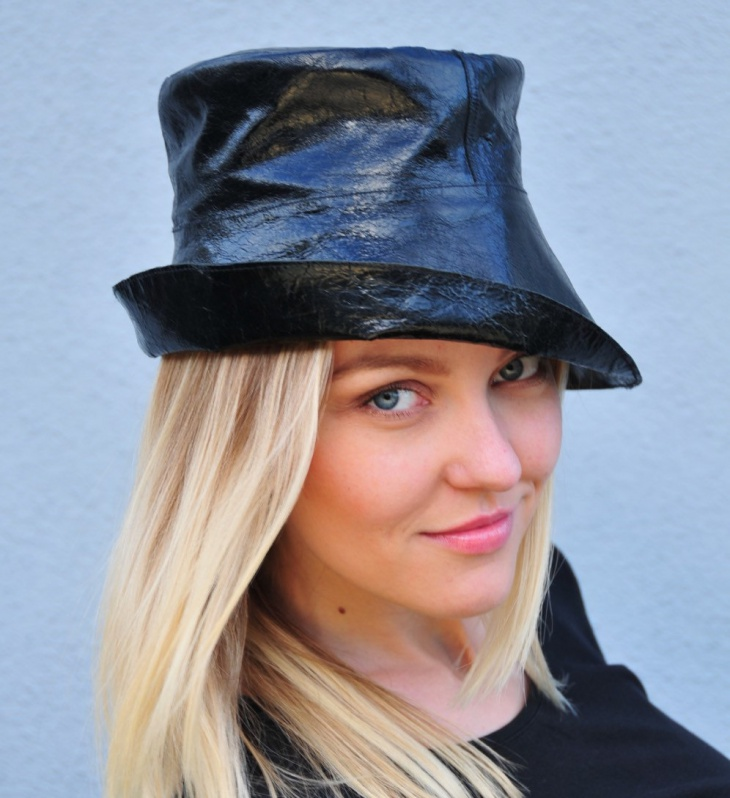 fashion leather hat