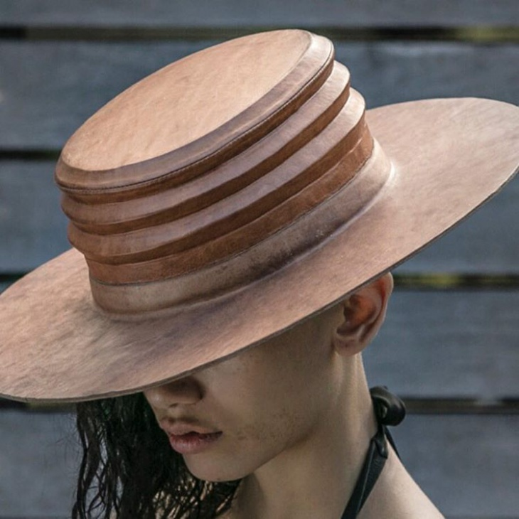 summer leather hat idea
