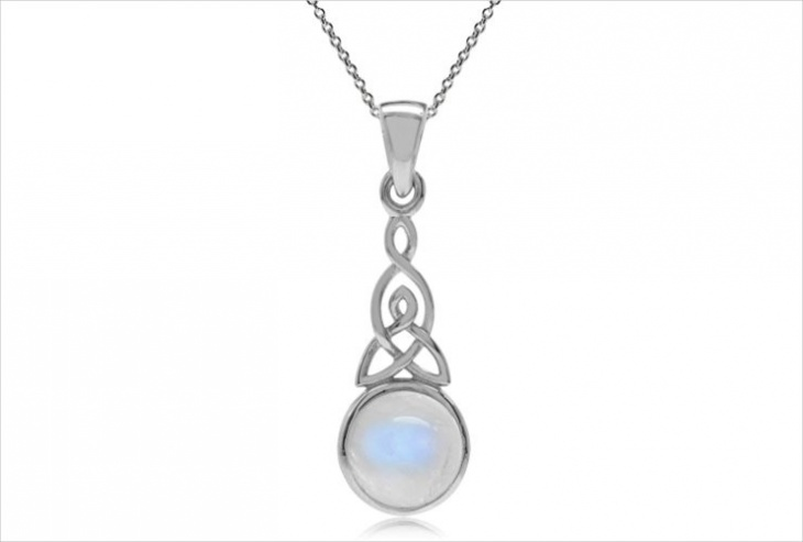 celtic moonstone necklace