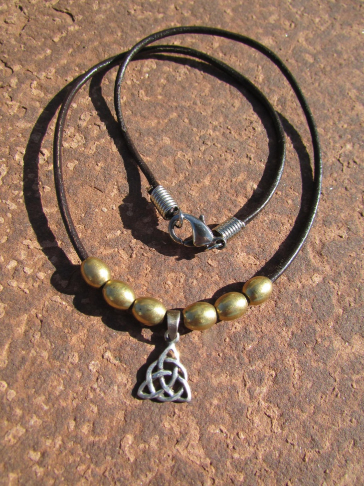 celtic leather necklace idea