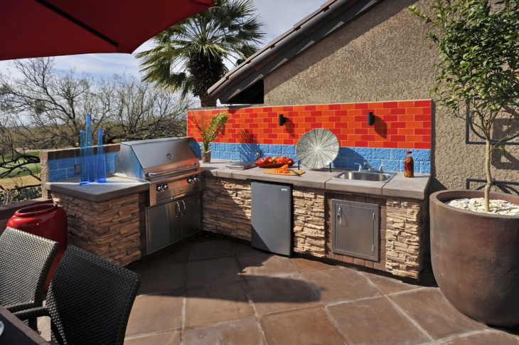 outdoor stone kitchen design