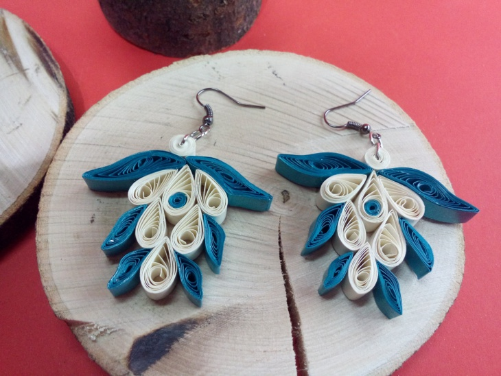 paper quilling earrings design