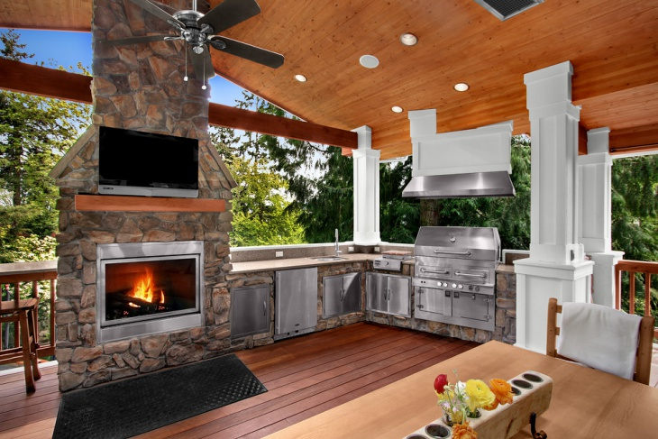 kitchen designs with fireplaces 18 outdoor kitchen designs ideas design trends 822