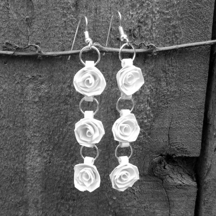 Rose Quilling Earrings